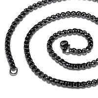 Мужская цепочка из стали с титановым напылением, 60 см/4 мм, фото 1