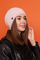 Жіноча тепла шапка панчіх з шерстю на флісі 61mgo214