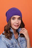 Жіноча тепла в'язана шапка панчіх з вовною 61mgo223