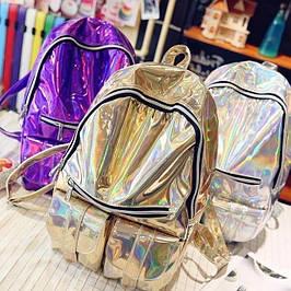 Голограммные и блестящие рюкзаки