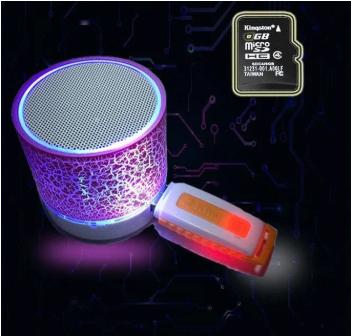Беспроводная Bluetooth колонка AMY146 с подсветкой. Бесплатная доставка Justin!