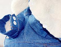 Одежда для маленьких собак модная осенне-зимняя куртка для собак Теплые Комбинезоны для щенка чихуахуа француз, фото 3