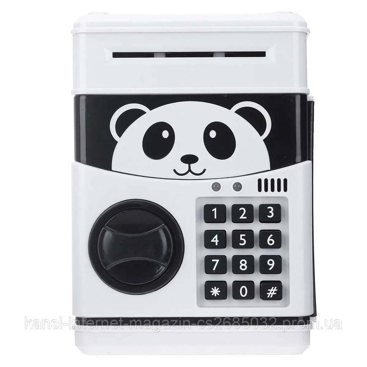 Електронна скарбничка Панда, дитячий банкомат з кодовим замком PANDA