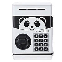 Електронна скарбничка Панда, дитячий банкомат з кодовим замком PANDA, фото 1