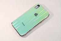 Чехол Iphone X XS Glass Case Gradient Стеклянный Градиент Видео