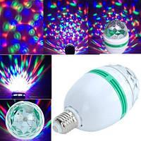 Диско лампа, шар LED 3W для вечеринок, дискотек вращающаяся гирлянда