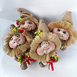 Оберіг лялька Домовик з грошима і ягідками і листочками, фото 8