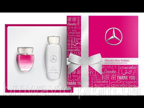 Подарунковий жіночий парфумерний набір Mercedes-Benz Parfums Rose, 2er-Set, фото 2