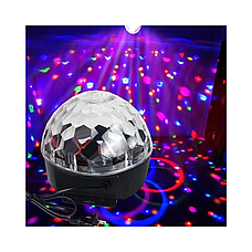 Диско шар MP3 светодиодный LED MAGIC BALL, светодиодный шар, фото 3