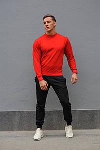 Спортивний костюм жіночий весна-літо-осінь (червоний світшот + чорні штани)