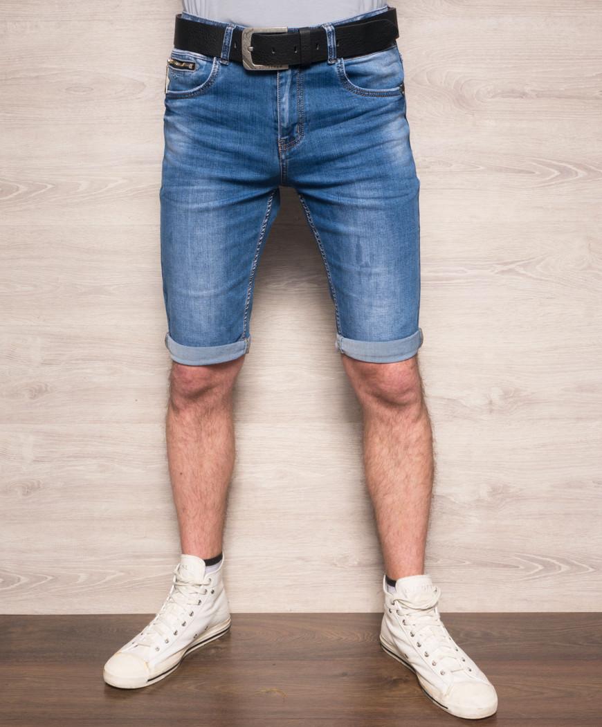 Шорты джинсовые мужские молодежные с ремнем Resalsa 6041