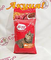 Корм Мяу повнораціонний з печінкою для дорослих котів 14 кг