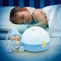 Ночник проектор первые грезы голубой First Dreams Chicco 24272, фото 1
