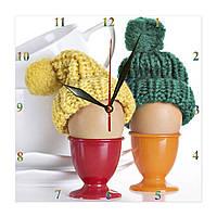 """Настенные часы  кухонные """"Яйца всмятку"""", фото 1"""