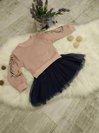 Повседневное платье на девочку длинный рукав 1-4 года, фото 2