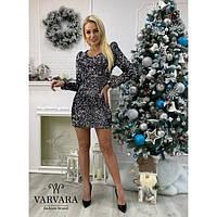 Женское новогоднее платье травка с пайеткой 44242