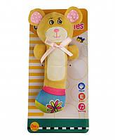 """Детская яркая игрушка погремушка из качественного текстиля """"Медвежонок"""" ТМ Royaltoys"""