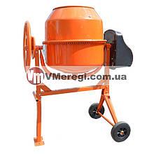 Бетономешалка для дома 140 л., Оранжевая, 650 Вт (Чугунный венец)