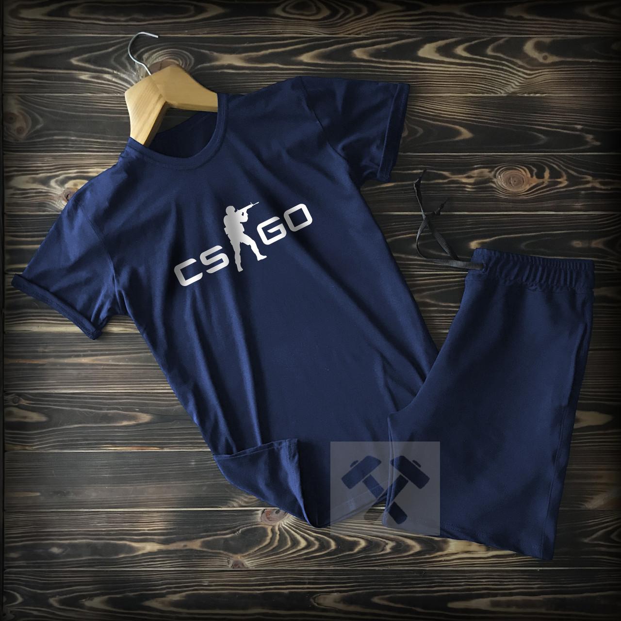 Cпортивные Мужские шорты и футболка c принтом CS Go (counter strike)  / Летние комплекты для мужчин