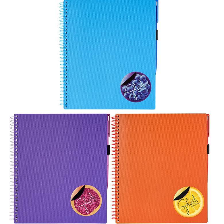 Блокнот для записей 175*206мм Optima Splash с ручкой O20840