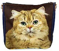 Джинсовая сумка РЫЖИЙ, фото 1