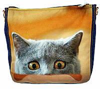Джинсовая сумка КТО ЗДЕСЬ, фото 1