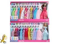 Кукла с нарядом Defa 8362 (12шт) 29см,платье 12шт,сумока,обувь,аксессуары,2вида,в кор-ке,66-35-5,5см