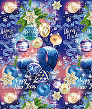 Бумага подарочная новогодняя 70*100 см / Елочные игрушки