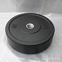 Бамперный диск 20 кг для кроссфит штанги (обрезиненые блины)