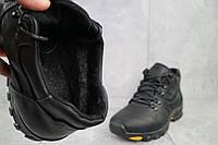 Мужские зимние ботинки на меху в стиле Clarks, шерсть, натуральная кожа, черные *** 40 (26,5 см)