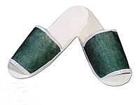 Одноразовые флизелиновые тапочки для отелей Зеленый 100 шт (ZF-0322)