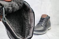 Мужские зимние ботинки на меху в стиле Maxus, шерсть, натуральная кожа, черные *** 42 (27,5 см)