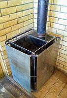 Дровяная печь для сауны, бани , с ящиком для камней, буржуйка, Сталь 8 мм