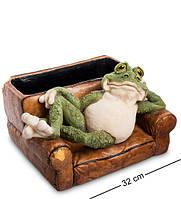 "Статуэтка-кашпо ""Лягушка в кресле"" 32x28x22 см., полистоун Sealmark, США"