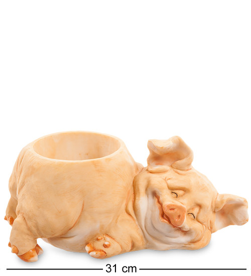 "Статуэтка-кашпо ""Свинья"" 31x18x14,5 см., полистоун Sealmark, США"