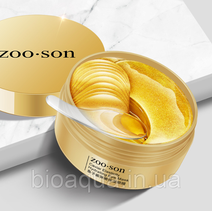 Гидрогелевые патчи для век ZOO:SON Caviar Elasticity с красной икрой (30 пар)