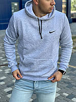 Теплая мужская толстовка Nike (Найк), худи с капюшоном, кофта, кенгурушка / ОСЕНЬ-ЗИМА
