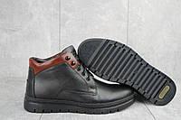 Мужские зимние ботинки на меху в стиле Bonis, шерсть, натуральная кожа, черные *** 45 (29,5 см)