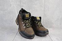 Мужские зимние ботинки на меху в стиле Jack Wolfskin, шерсть, натуральная кожа, коричневые *** 41 (27 см)