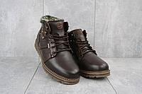Мужские зимние ботинки на меху в стиле Kristan, шерсть, натуральная кожа, коричневые *** 41 (26,5 см)