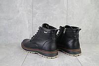 Мужские зимние ботинки на меху в стиле Multi-shoes, шерсть, натуральная кожа, черные *** 40 (27 см)