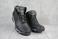 Мужские зимние ботинки на меху в стиле Columbia, шерсть, натуральная кожа, черные *** 41 (27 см)