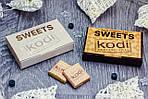 Набір з шоколадом 2 плитки по 5г від 100 шт. з Вашим логотипом.
