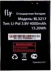 Аккумулятор для Fly IQ4502 Quad ERA Energy 1 оригинальный, батарея BL3217, фото 2