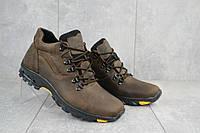 Мужские зимние ботинки на меху в стиле Clarks, шерсть, натуральная кожа, коричневые *** 42 (28 см)