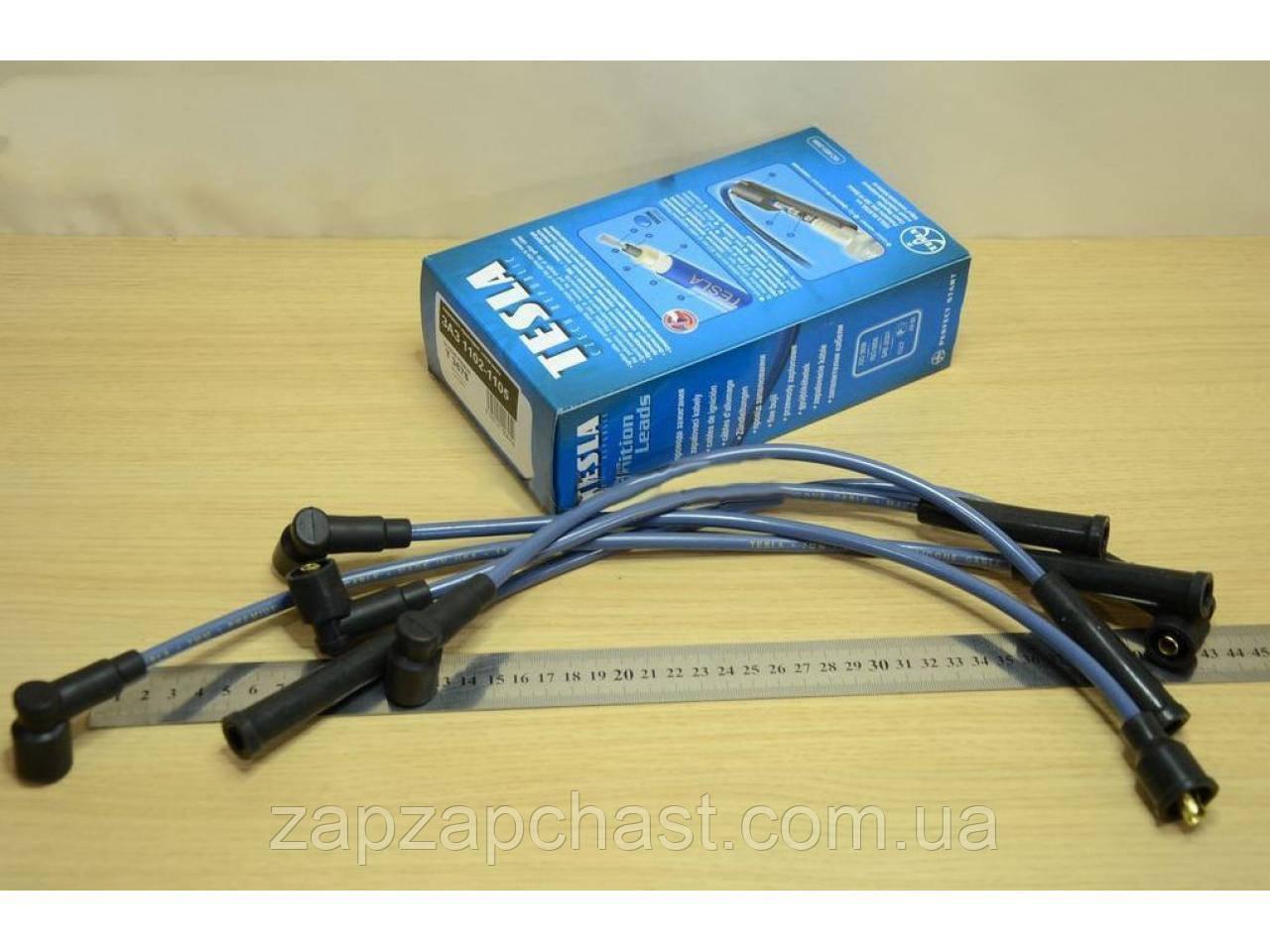 Провода свечные заз 1102 1103 таврия славута Tesla T367S (синие) силиконовые.