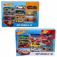 Машинки Hot Wheels Подарочный набор из 10 машинок 54886
