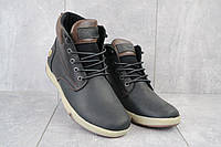 Мужские зимние ботинки на меху в стиле Timberland, шерсть, натуральная кожа, черные *** 40 (26,5 см)
