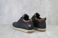Мужские зимние ботинки на меху в стиле Timberland, шерсть, натуральная кожа, черные *** 41 (27 см)