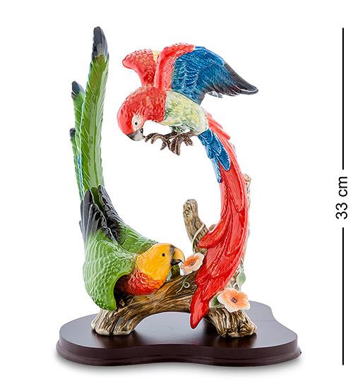 """Статуэтка-композиция """"Попугаи"""" 25x20x33 см., фарфор Pavone, Италия"""